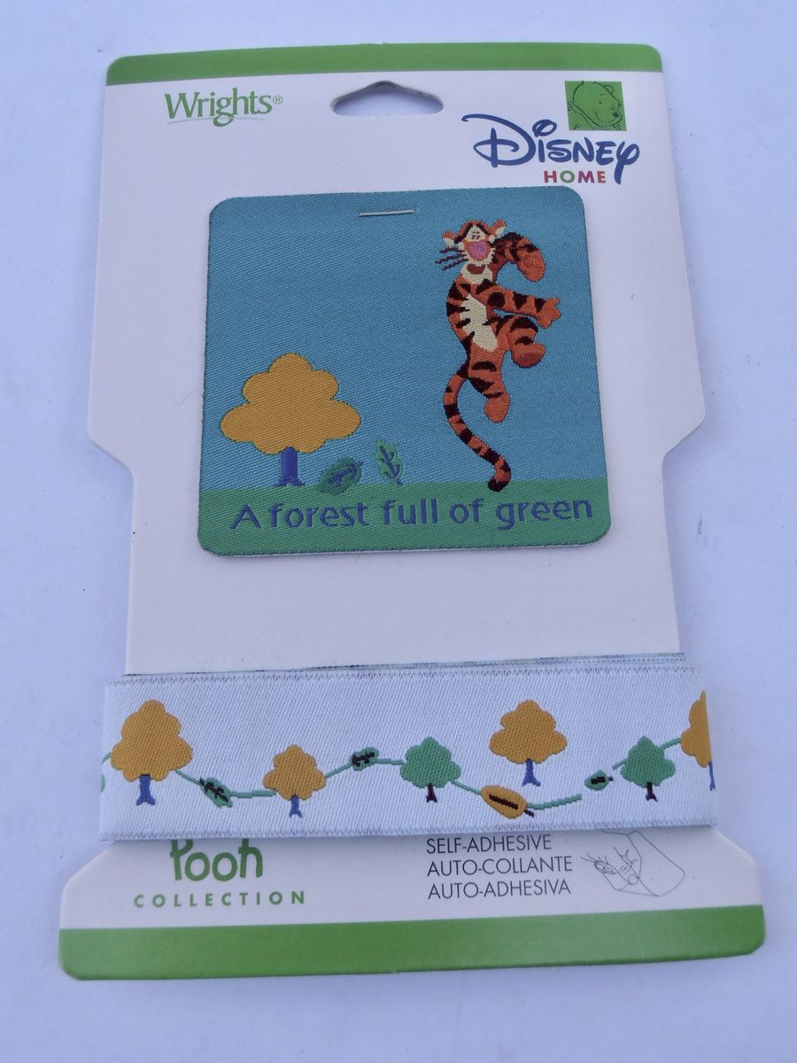 Tigger Applique Ashdown Forest Patch Fabric Pooh Collection Embroidery Disney Self Adhesive Book Scrapping Sewn On Lion Trees  - product images  of