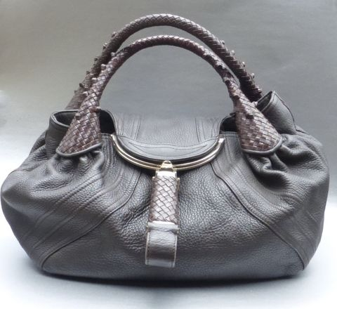 Authentic,Fendi,Spy,Bag,Buttery,Soft,Dark,Brown,Leather,Pre,-,Owned,genuine fendi spy bag dark brown leather purse, authentic fendi spy handbag dark brown leather, fendi spy bag 22118BR511RQ105, fendi spy bag a550045, dark brown leather fendi spy bag, fendi spy bag hobo boho