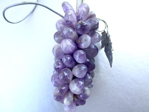 Vintage,Amethyst,Wine,Bottle,Necklace,Genuine,Gemstones,Decanter,Collar,Jewelry,Grape,Clusters,Vine,Purple,Mineral,Decor,Table,Feast,Charms,wine bottle necklace, amethyst wine necklace, wine bottle jewelry, vintage wine necklace, genuine amethyst jewelry, authentic amethyst necklace, purple grape clusters, wine decanter decoration, amethyst bead stones, amethyst grape clusters, amethyst charm