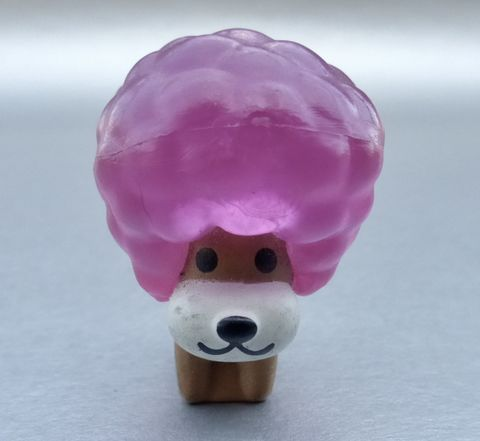 Afro,Ken,Pink,Hair,Figurine,Dog,Puppy,Plastic,Large,Bouffant,Curly,Cotton,Candy,Hairstyle,Collectible,Collection,Mini,Miniature,Pooch,Puppers,Small,Translucent,Hard,afro ken plastic figurine, afro ken dog pink hair, afro ken curly pink hair, curly ken pooch, san x afro ken anime, cotton candy hair dog, pink bouffant hair, afro ken memorabilia, afro ken plastic collectible