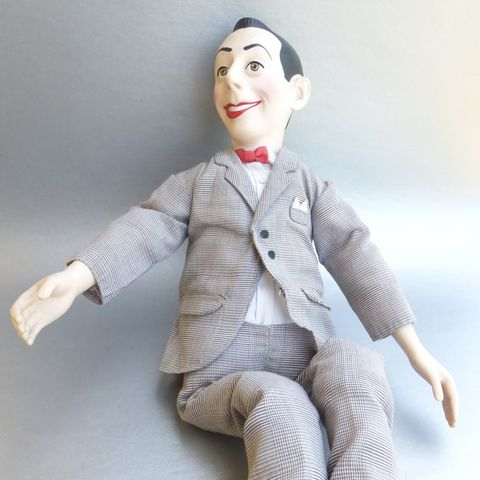 "Pee,-,Wee,Herman,Talking,17"",Doll,Soft,Vintage,1987,Matchbox,Toys,Pull,String,Playhouse,TV,Show,Icon,Articulated,Figurine,Suit,Collectible,Comic,Fictional,Pop,Culture,peewee herman doll, pee wee herman doll, peewee playhouse collectible, paul reubens tv actor, peewee talking doll, vintage peewee doll 17 inches, peewee, plaid tartan mens suit, red lips doll, red satin bow tie, articulated doll"