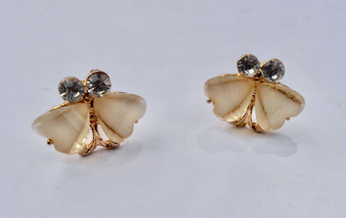 HEART RHINESTONE DAINTY Earrings