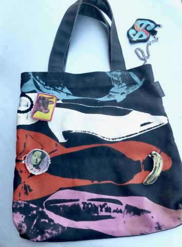 Original,Andy,Warhol,NYC,Loop,Tote,Bag,Heavy,Canvas,MoMA,Collectible,Rare,Memorabilia,Limited,Edition,Discontinued,Pop,Art,Culture,Reproduction,1950s,Artwork,Silk,Screen,Circa,2009