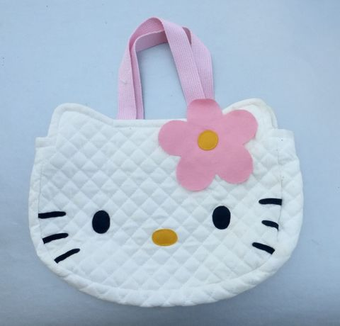 Hello,Kitty,White,Waffle,Bag,Purse,Handbag,Quilted,Tote,Diamond,Pattern,Collectible,Rare,Kawaii,Kitten,Cat,Pink,Flower,Circa,2001,Made,in,Japan,hello kitty white quilted handbag, hello kitty collectible bag, genuine hello kitty waffle tote bag, hello kitty pink bag, sanrio designer bag, iconic hello kitty kitten collection, hello kitty fabric  bag, collectible hello kitty bag, sanrio hello kitty
