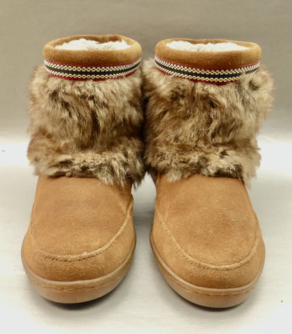 Minnetonka,Suede,Tan,Leather,Boots,Faux,Fur,Women's,Moccasin,Booties,Ladies,Size,10,Shoes,08,-,13,85359,022,01,Pre,owned,minnetonka suede tan leather shot boots faux fur women size 10, tan suede  moccasin booties ladies size 10 shoes, minnetonka  ladies boots style 08 13 85359  022 01, winter tan boots ladies size 10, everett tan suede leather booties, tan suede moccasins s