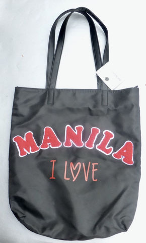 I,Love,Manila,Black,Nylon,Bag,Tote,Bench,Shoulder,Purse,Travel,Market,Everyday,Office,Work,Souvenir,Her,i love manila black nylon tote bag, her bench manila tote, red tower bag, nylon farmers market bag, manila souvenir bag, her bench bag ygt0378, bench souvenir bag bk3 190124 15284, black nylon tote bag 31666459