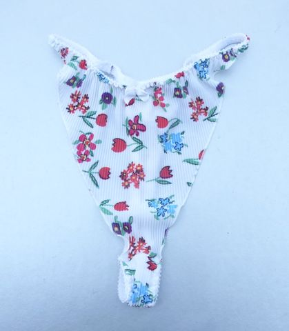 Vintage,90s,White,Pleated,Thong,Panty,Red,Floral,Tulips,Flower,Tanga,G,String,Underwear,Micro,Bikini,No,Show,Smooth,Honduras,Style,336PAOH,Size,S/5,NWOT,Summer,Fields,Sexy,Burlesque,Risque,Collection,Undergarment,Waist,Brief,Dental,Floss,T,Back,tulip flowers t strap bikini thongs, white pleated v shape g string, red white floral panties, white bikini thong, pleated white red flowers dental floss underwear, g string bikini panty, red flowers lingerie, red white bikini intimate panty, high leg red