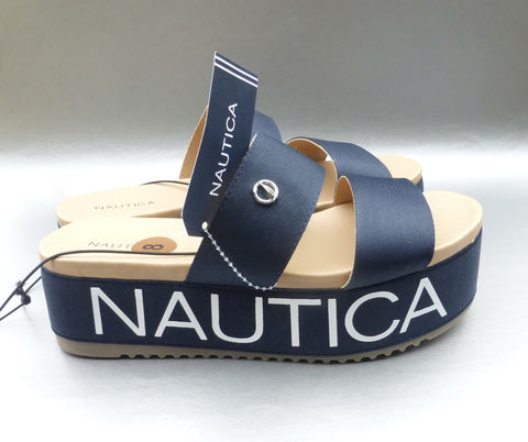 Nautica,Platform,Sandals,Dark,Blue,Size,8,Wide,Straps,Satin,Shoes,Summer,Slip,On,Mules,Bellana,Style,Navy,White,QW0073,Villa,Collezione,Villacollezione,nautica dark blue strap sandals size 8, dkny bellana blue white ladies platform sandals size 8, nautica designer dark blue strap sandals, nautica slip on mules womens sandals size 8, aurica bellana sandals QW0073, nautica strappy slip on shoes, nautica pl