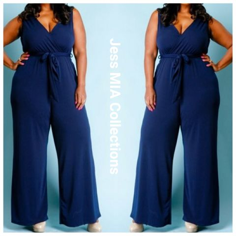 The,Indigo,Jumpsuit,indigo, curvy girl clothing, Jess MIA Collections, jumpsuits
