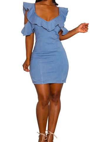 The,Luxe,Denim,Dress,denim dress, luxe, Jess MIA Collections