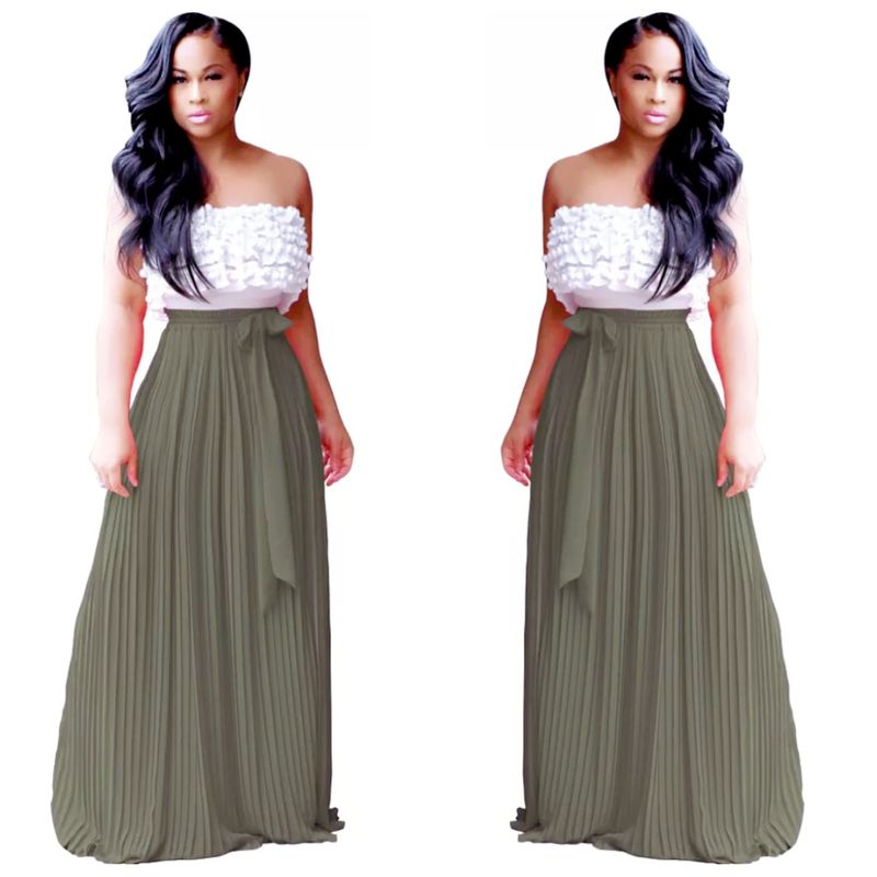 The Olive Maxi Skirt - product image