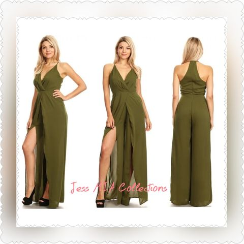 The,Olive,Jumpsuit