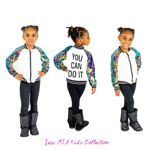 The,You,Can,Do,It,Jacket,Jess MIA Kids Collection, sequins