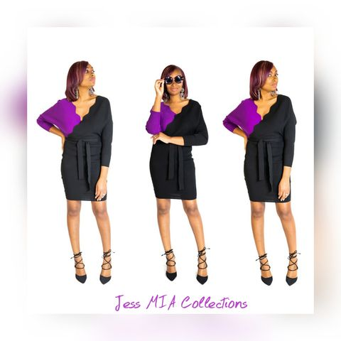 The,Mia,Colorblock,Dress,Colorblock dress, purple dress