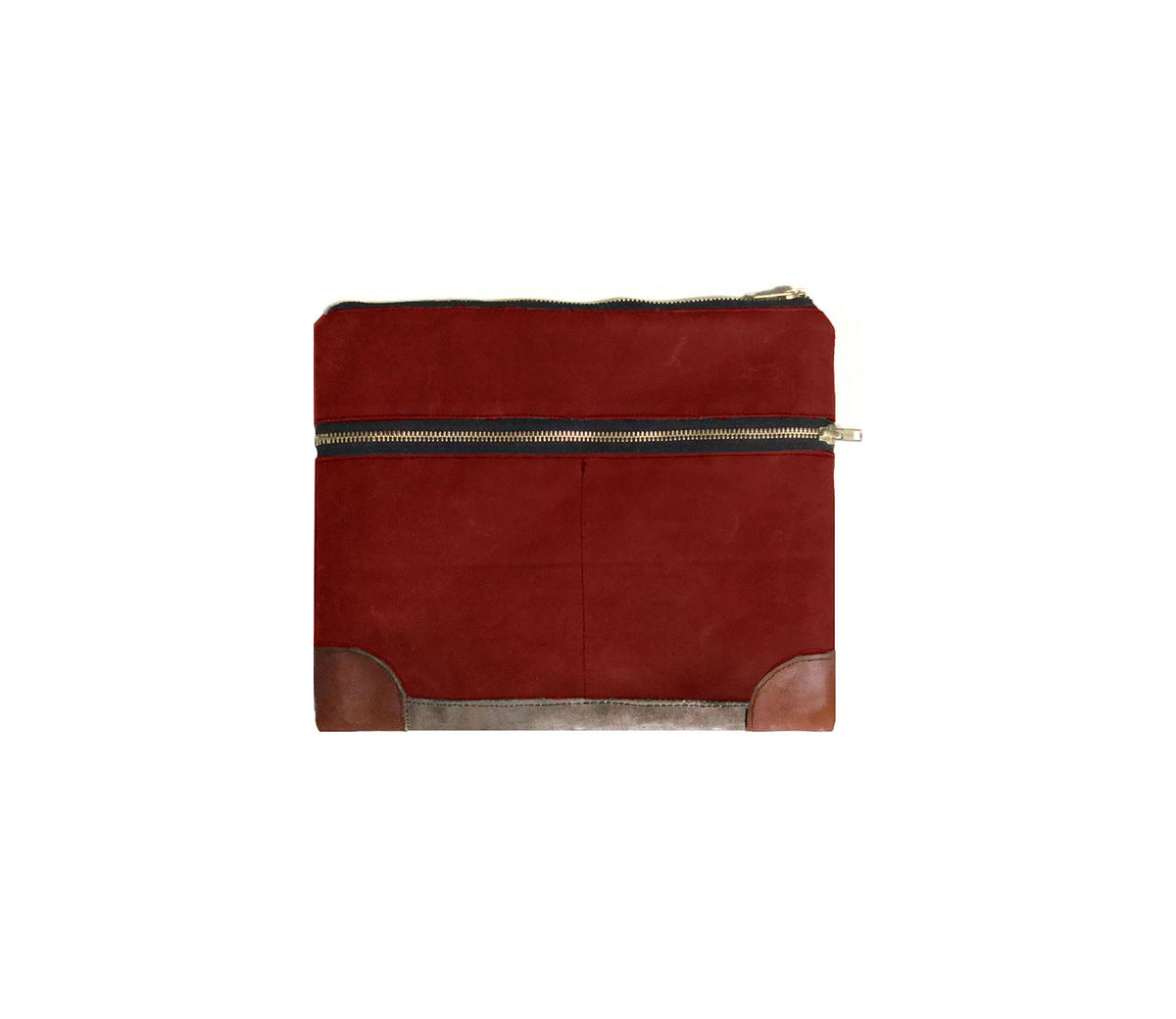 Everything iPad Case, Gadget Case - Sailor Custom Waxed Canvas and Leather in Blood Root - product images  of