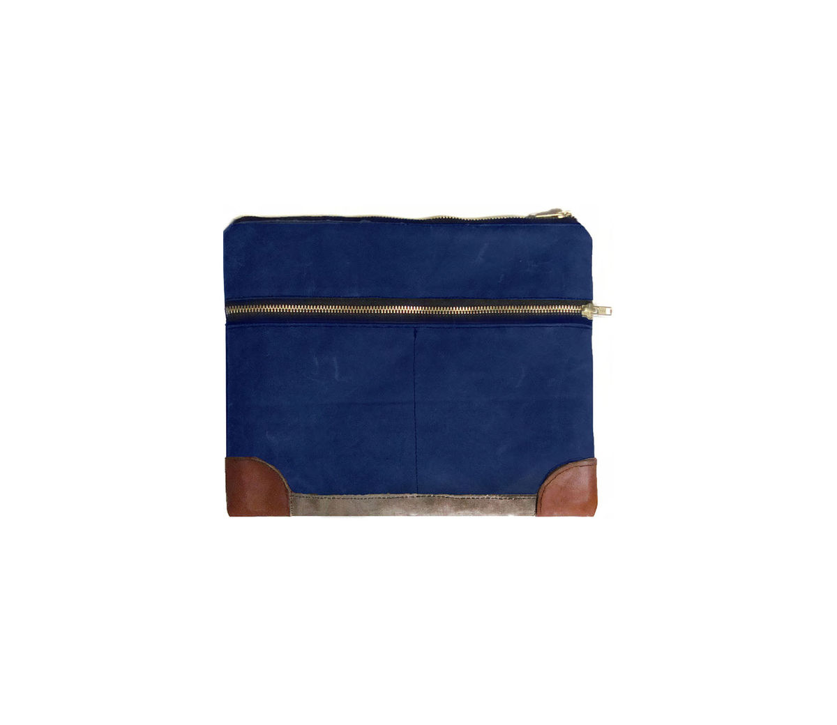 Everything iPad Case, Waxed Canvas, Leather, Custom Dyed in Sailor Blue - product images  of
