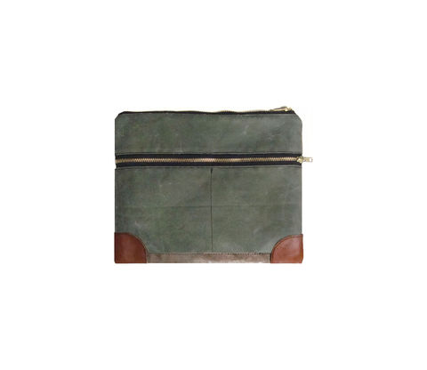 Everything,iPad,Case,,Waxed,Canvas,,Leather,,Custom,Dyed,in,Olive,Bags_And_Purses,pouch,gadget_case,ipad,ipad_mini,case,iphone,waxed_canvas,leather,water_resistent,canvas,olive