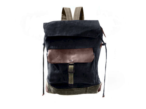 Sessa,Carlo,Waxed,Canvas,Backpack,and,Leather,,Resistance,backpack, mclovebuddy, sessa_carlo, waxed_canvas, leather, military, utilitarian, brass, brown, black