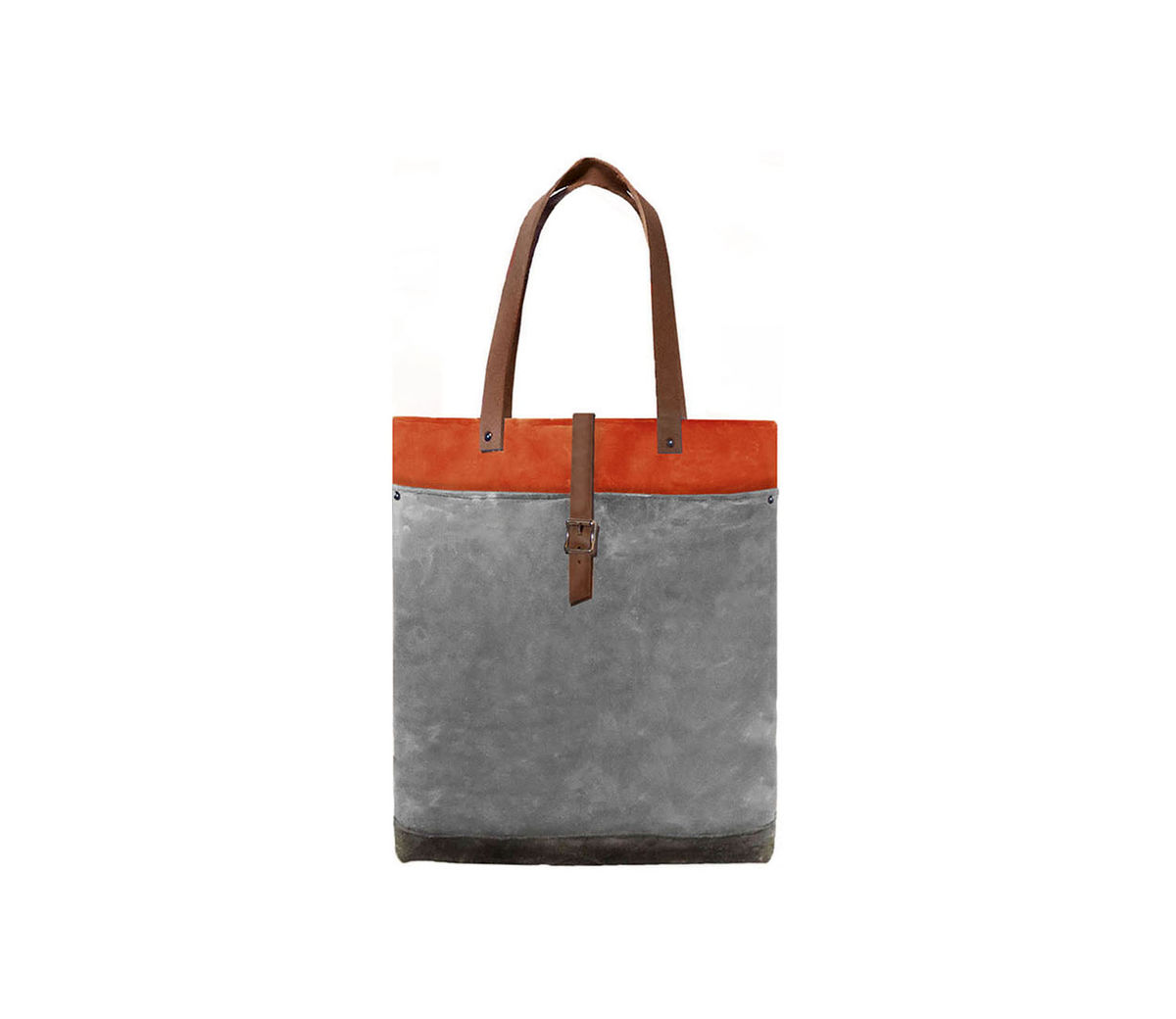 Classic Waxed Canvas Tote w/ Leather Straps in Hunter - product images  of