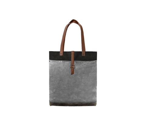 Classic,Tote,Waxed,Canvas,w/,Leather,Straps,in,Resistance,Bags_And_Purses, Work,canvas_tote,leather_tote,waxed_canvas,leather,water_resistent,canvas,olive,Black