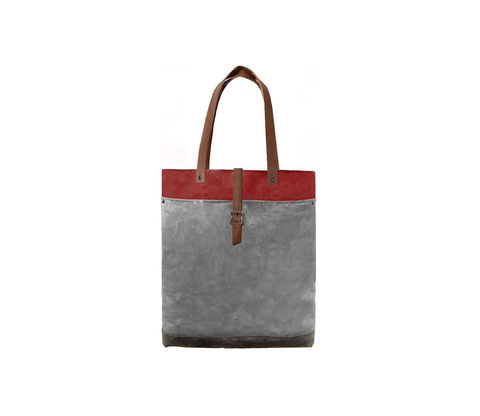 Classic,Tote,Waxed,Canvas,w/,Leather,Straps,in,Blood,Root,Bags_And_Purses, Work,canvas_tote,leather_tote,waxed_canvas,leather,water_resistent,canvas,olive, Red
