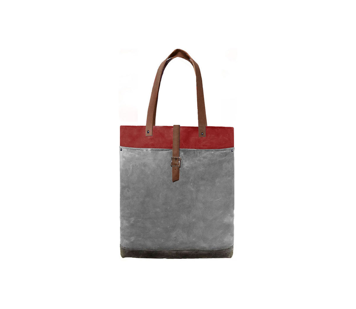 Classic Tote Waxed Canvas w/ Leather Straps in Blood Root - product images  of