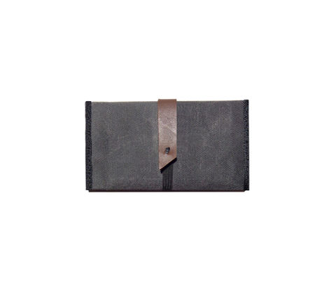 Slim,Wallet,,RFID,Blocker,,Waxed,Canvas,with,Leather,Bags_And_Purses,wallet,waxed_canvas,rfid_blocker,leather,slim,confederate grey