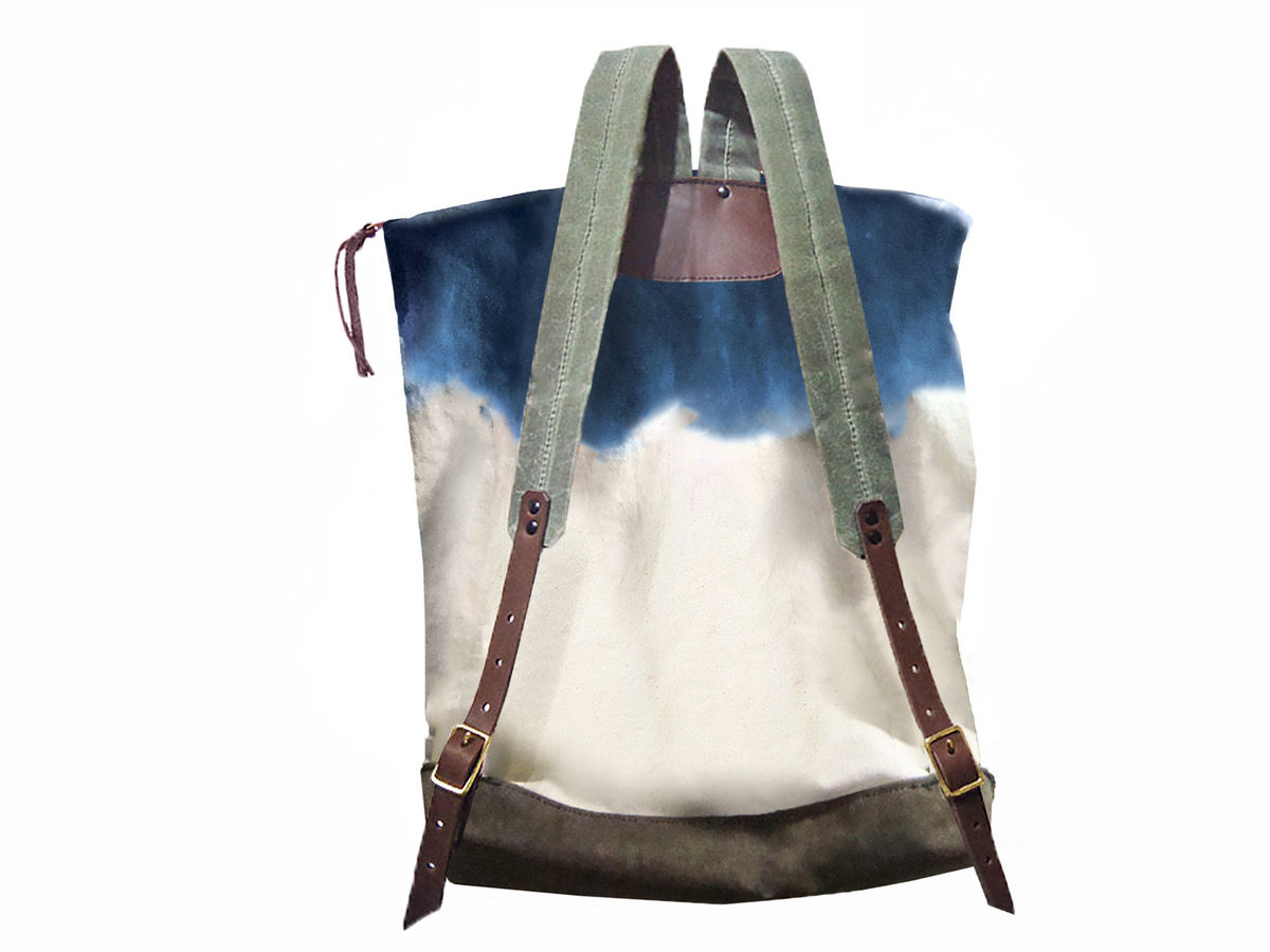 City Backpack, Hand-Dyed, Custom-Waxed - Indigo - product images  of