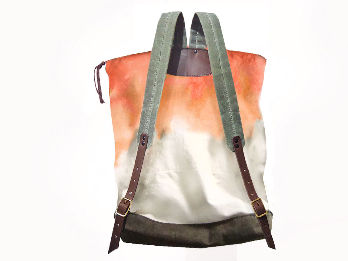 City Backpack, Hand-Dyed, Custom-Waxed - Tequila - product images  of