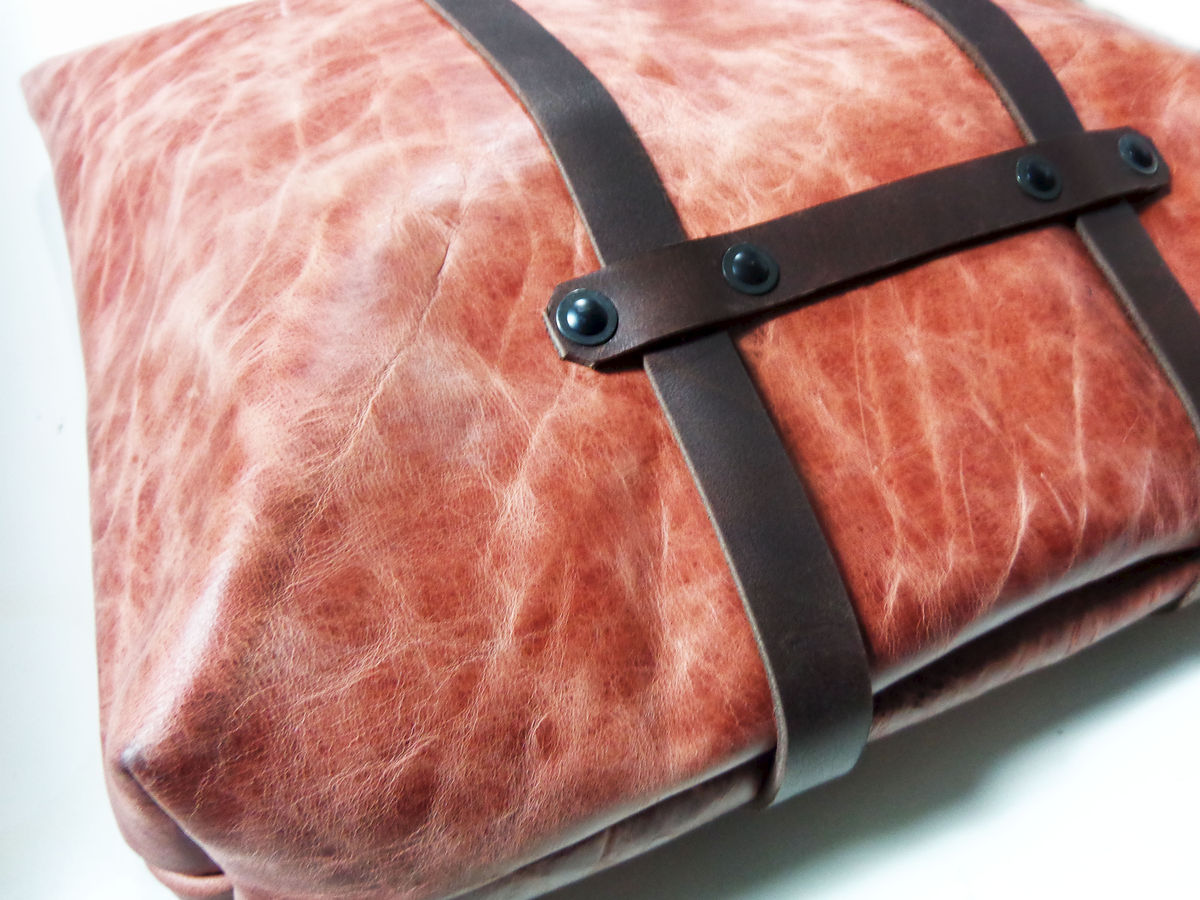 Bison Leather Convertible Tote Backpack - product images  of