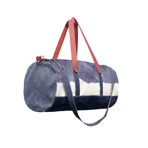 Pop,Duffle,Tote,w/,Leather,Straps,-,Storm,Bags_And_Purses,duffle,men, Work,canvas_tote,leather_tote,canvas,leather,water_resistent,natural,grey,blue, storm, dip dye, hand dye
