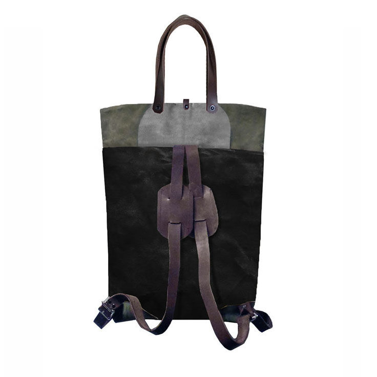 Pop Convertible Backpack Tote, Waxed Canvas - Infantry - product images  of