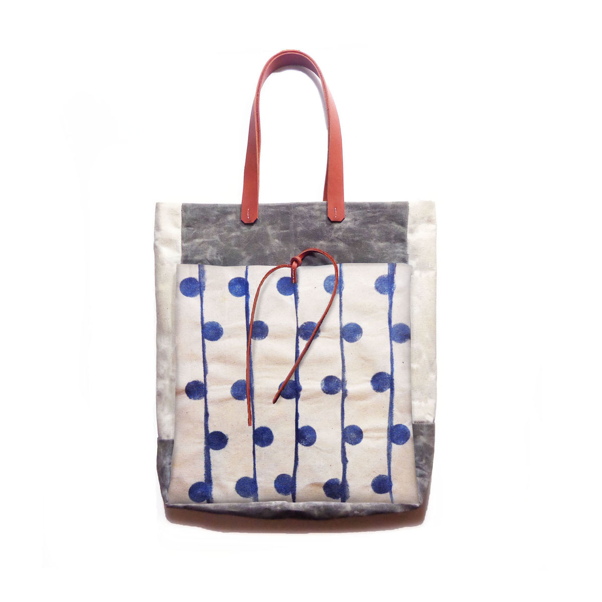 Market Tote w/ Leather Handles - Indigo Dew - product images  of