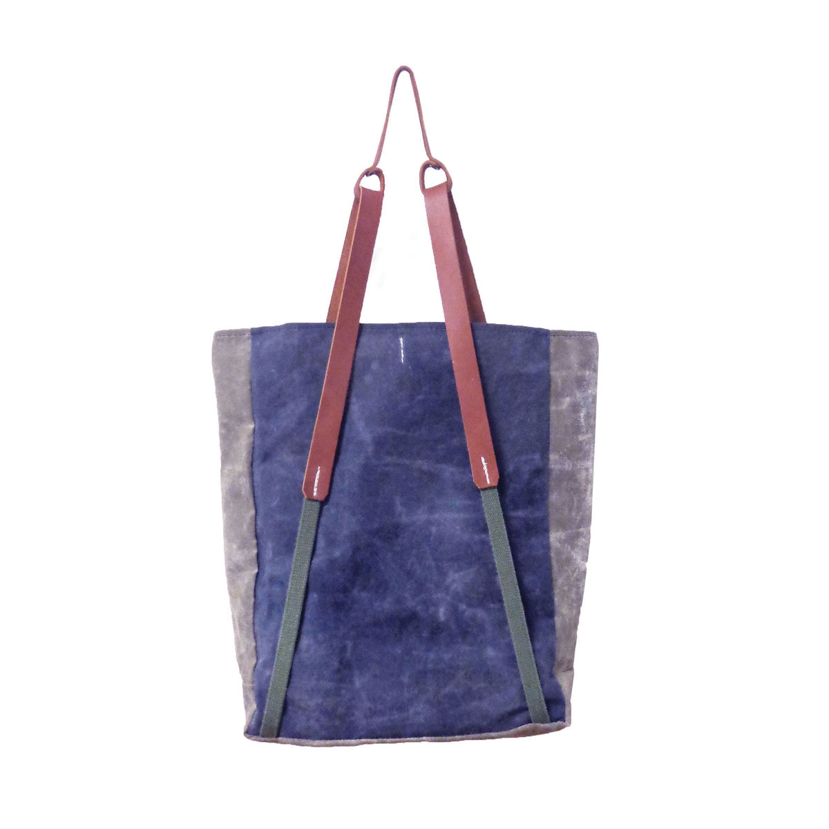 Convertible Bodega Tote, Backpack - Indigo Dot - product images  of
