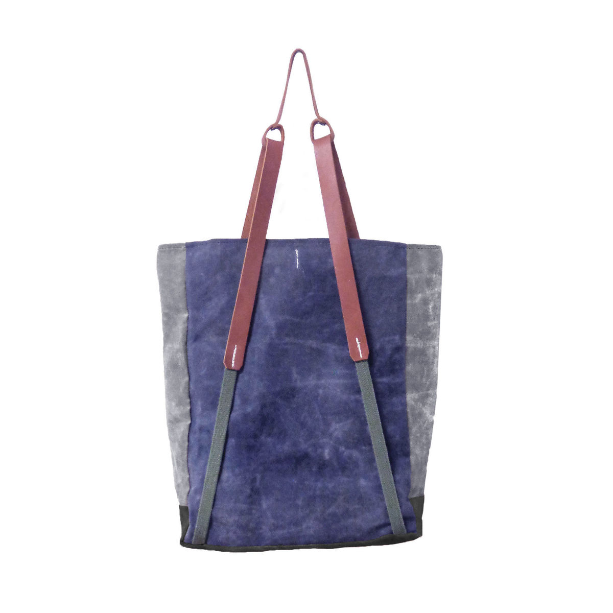 Convertible Bodega Tote, Backpack - Navy - product images  of