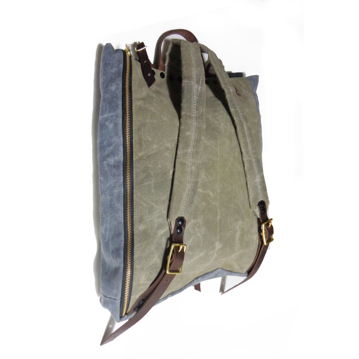 Convertible Laptop Backpack, Tote Strap - Black, Olive - product images  of