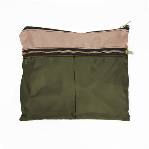 3,Zip,Pocket,Gadget,Pouch,,Waxed-Canvas,Olive,pouch,organizer,case,pen,gadget,ipad,iphone,nylon,waterproof,olive,khaki