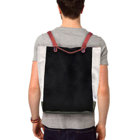 Convertible,Bodega,Tote,,Backpack,-,Black,Olive,bag_Convertible_bodega_Tote_backpack_leather_waxed_canvas_water_repellent_stain_olive_black