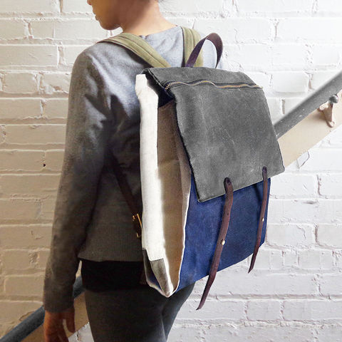 Convertible,Laptop,Backpack,,Tote,Strap,-,Charcoal,convertible,pannier,Backpack,laptop,waxed,canvas,leather,rucksack,safari,olive,red