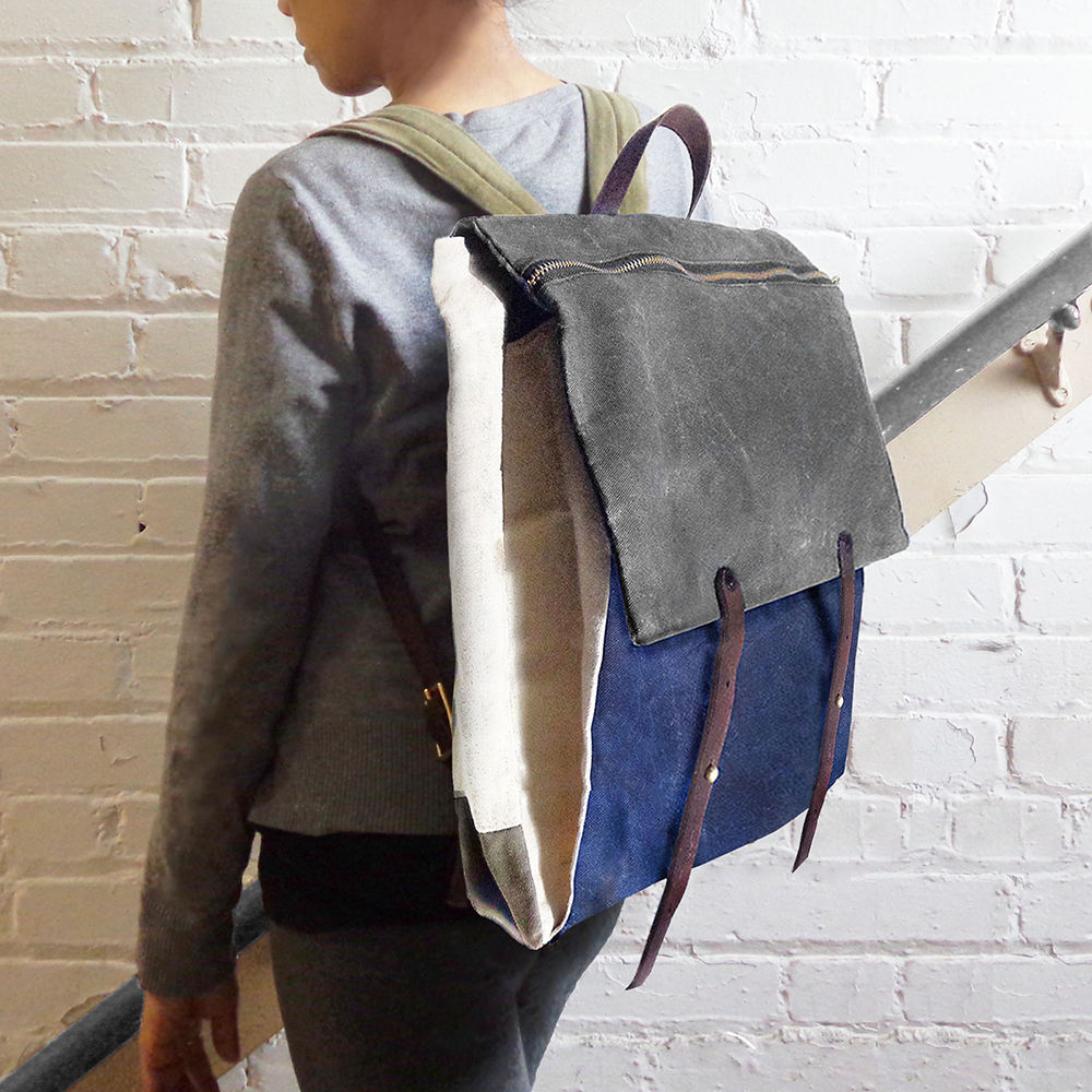 Convertible Laptop Backpack, Tote Strap - Charcoal - product images  of