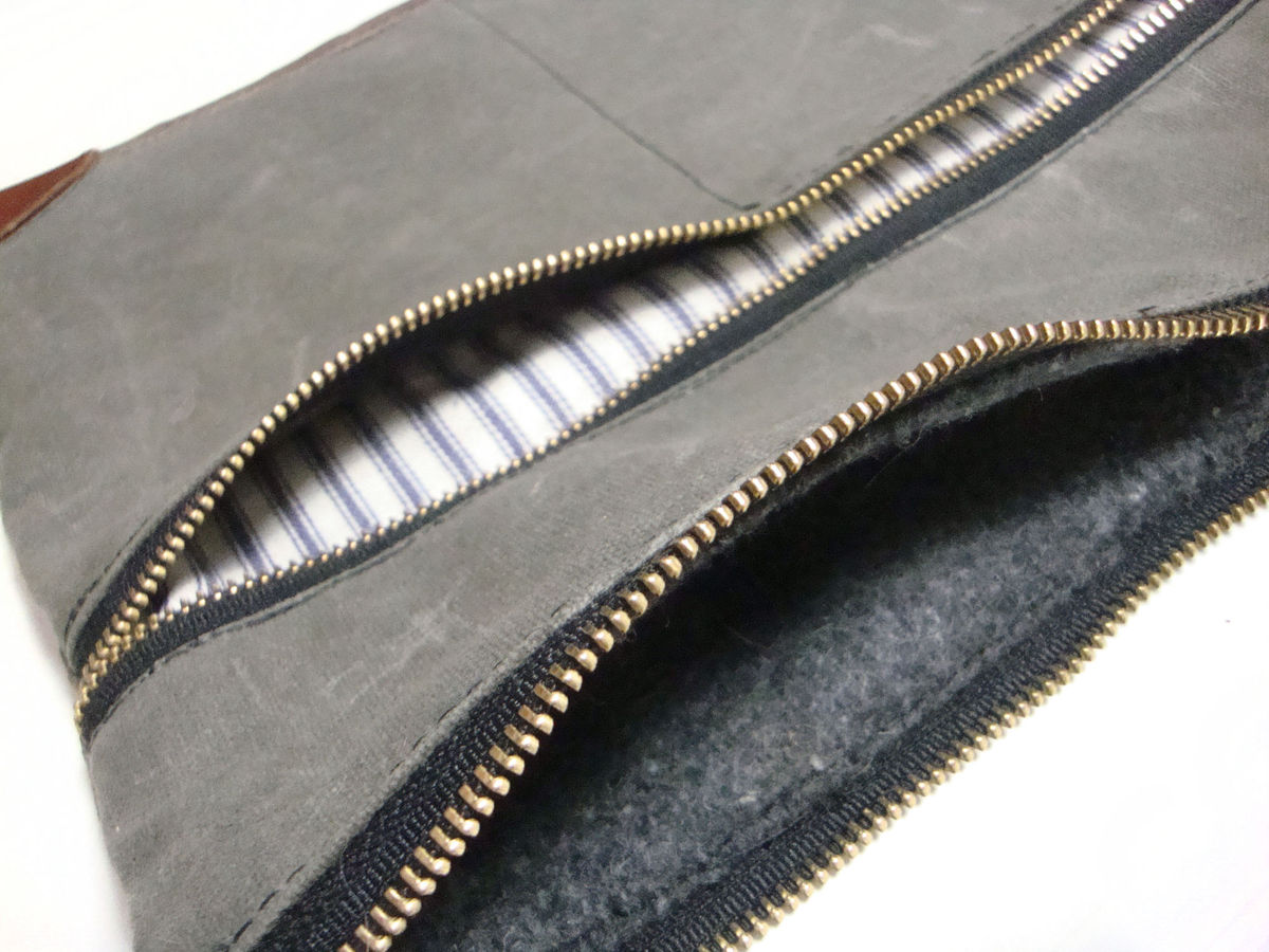 Everything iPad Case, Waxed Canvas, Leather, Custom Dyed in Olive - product images  of