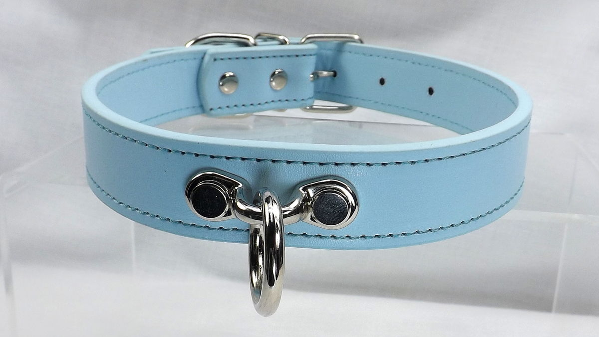 O Ring Collar with leash Bondage collar O ring slave collar submissive collar - product images  of