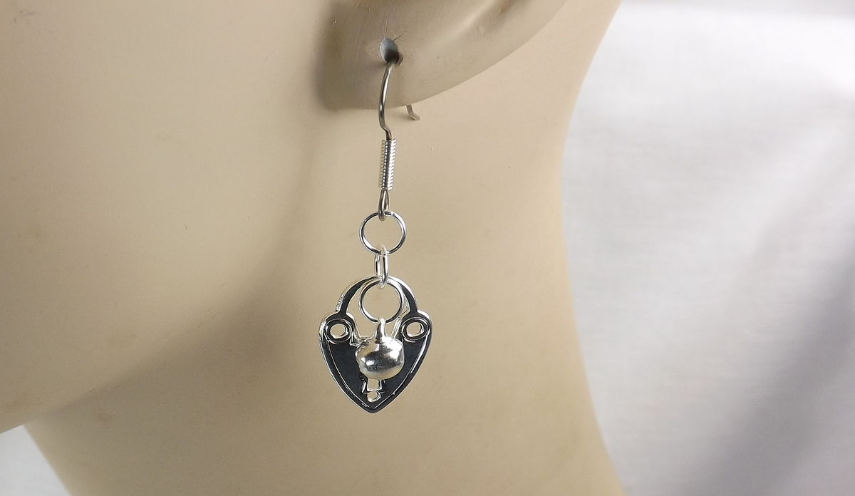 Bdsm Earrings Slave bell jewelry heart ringing bell dangle & Drop Earrings - product images  of