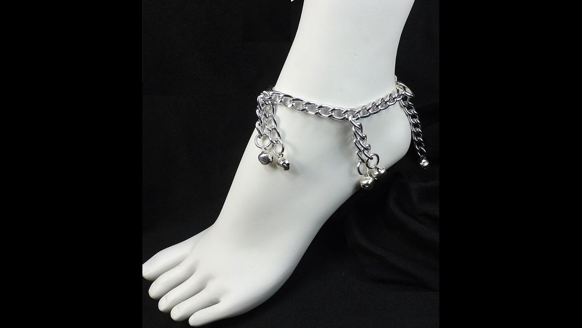 Bell Anklet slave bell ankle bracelet ringing bells submissive jewelry foot fetish jewelry bdsm jewelry - product image