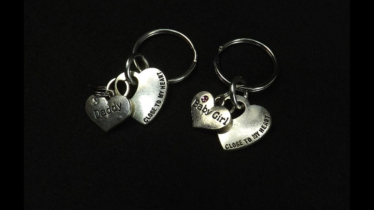 DDLG gift key chains Baby Girl Daddy Dom Close to my heart key chains bdsm gift set - product image
