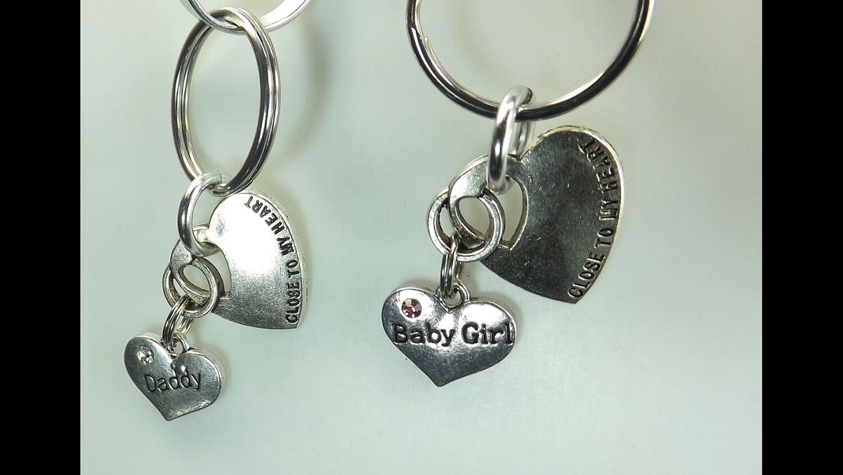 DDLG gift key chains Baby Girl Daddy Dom Close to my heart key chains bdsm gift set - product images  of