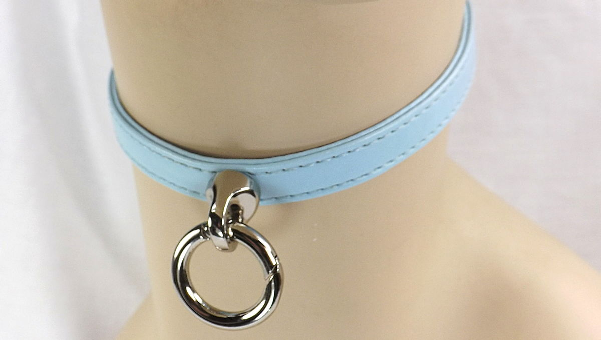 BDSM Day Collar O ring Buckle Collar sub collar slave day collar - product image