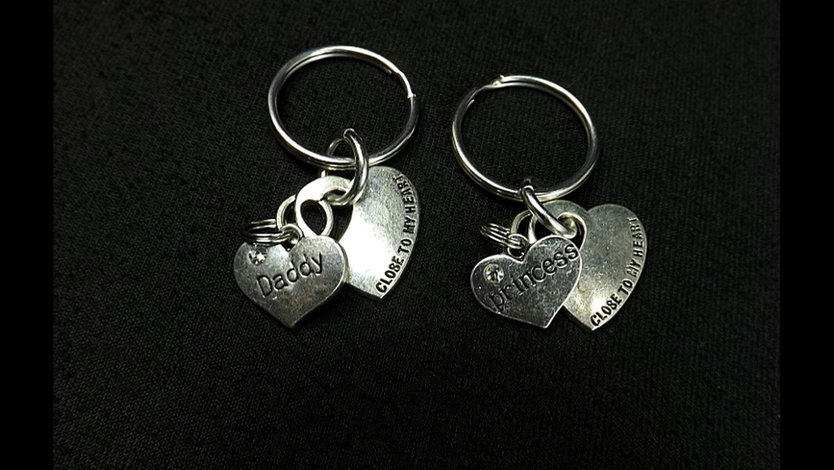 DDLG gift keychains Princess and Daddy Dom Close to my heart key chains bdsm gift set - product image