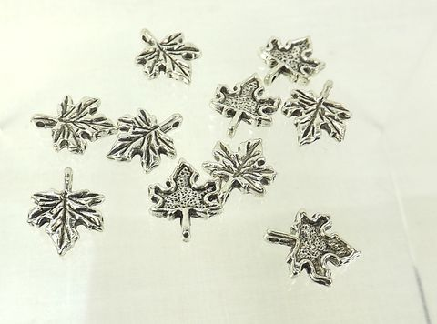 Maple,Leaf,Charms,13mm,silver,color,leaf,pendant,jewelry,making,canadian,symbol,Supply, silver maple leaf charm, leaf pendant, 13mm silver maple leaf charm, candadian symbol, jewelry making, spring charms, fall charms