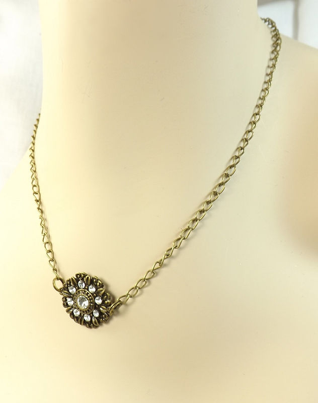 Necklace Rhinestone Medallion womens jewelry charm necklace - product images  of
